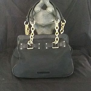 BCBG MAX AZRIA Black Fabric shoulder purse